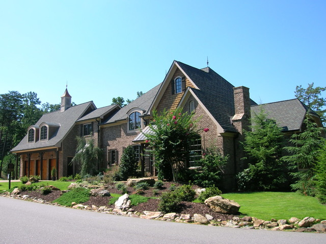 French country mediterranean exterior atlanta by for French mediterranean house