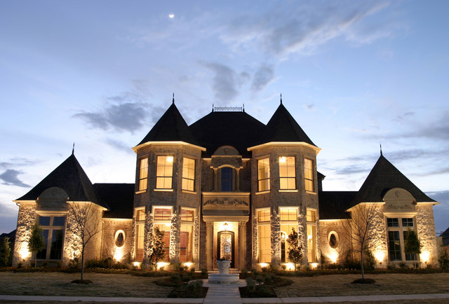 French Estate Elevation - Southlake traditional-exterior