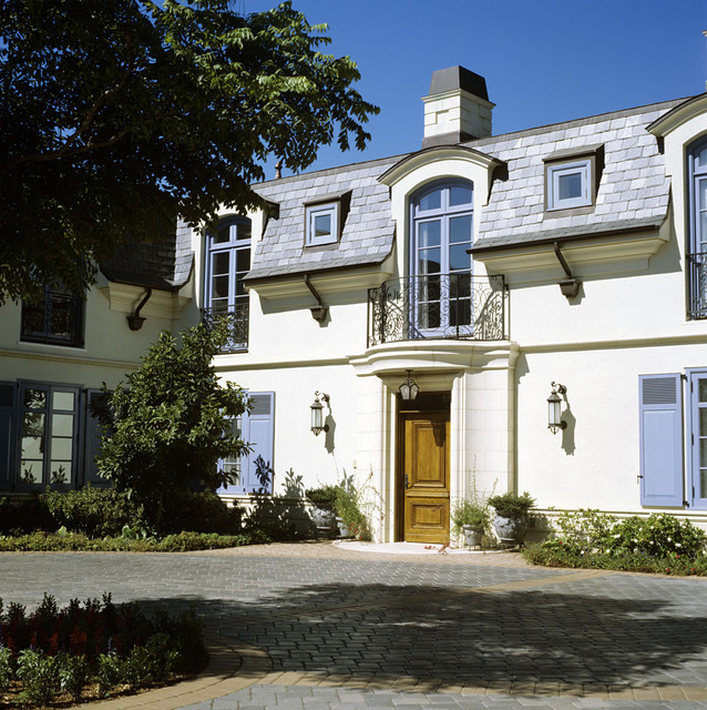 French Manor House Style Entry Mediterranean Exterior