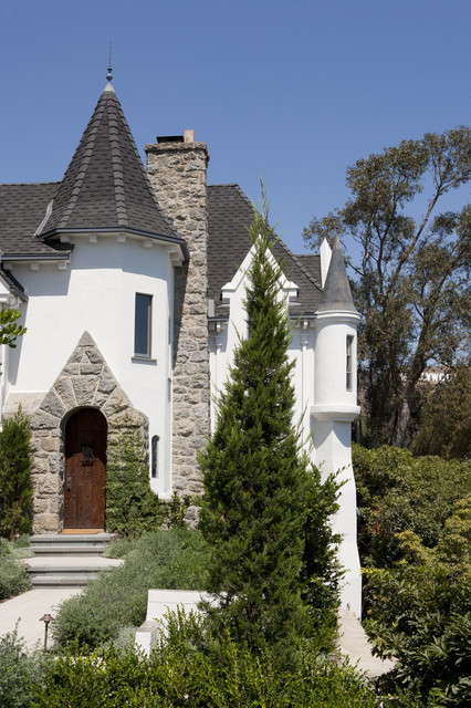 French normandy castle transitional exterior los for French normandy house plans