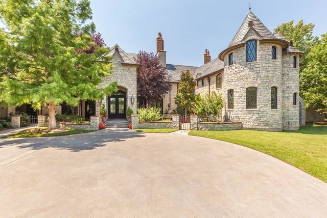 French normandy estate traditional exterior oklahoma for French normandy house plans