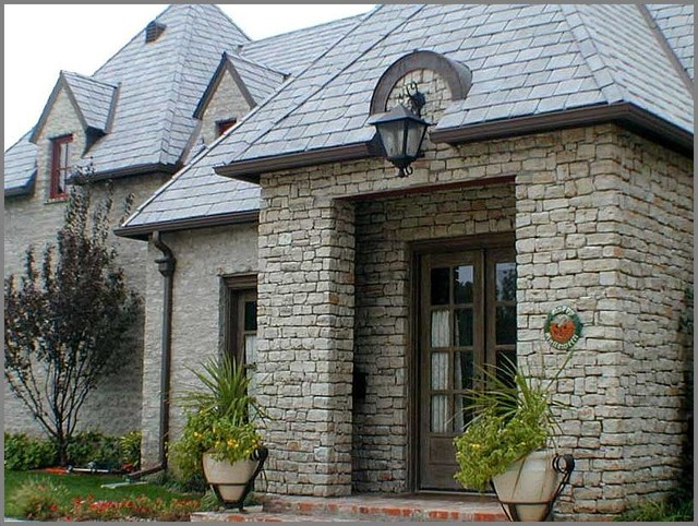 French normandy traditional exterior oklahoma city for French normandy house plans