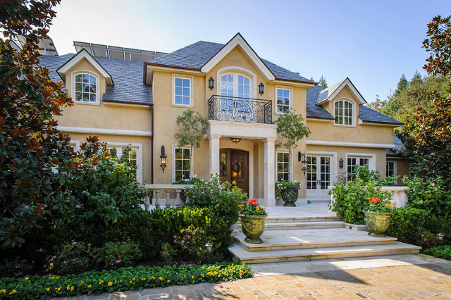 French Provincial Atherton Home Traditional Exterior