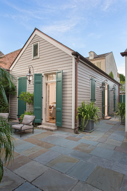 French quarter residence traditional exterior new New orleans paint colors