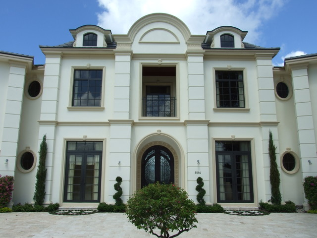 French regency chateau traditional exterior miami for French chateau exterior design