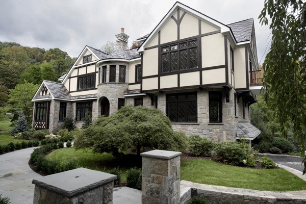 French tudor inspired exterior traditional exterior for Devonshire home design garden city ny