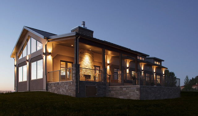 From concrete barn to custom home for Custom barn homes