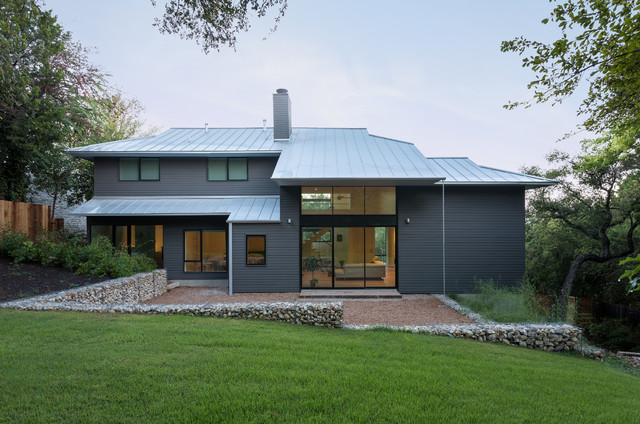 From Traditional To Modern A Before After Home Remodel Contemporary Exterior Houston