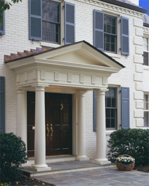 Front Door Pillars Traditional Exterior Dc Metro By Pagenstecher Group