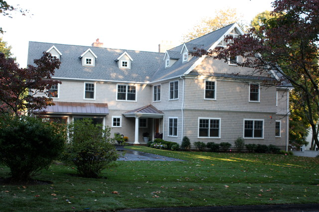 Ranch Conversion to Shingle Style House (Westport, CT) traditional-exterior
