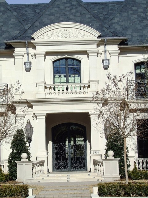 Front Elevation Traditional Exterior Dallas By