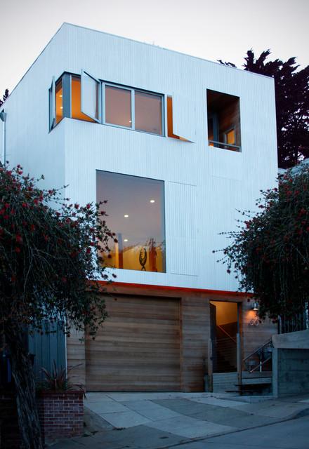 Modern Exterior Front Elevation : Front elevation modern exterior san francisco by