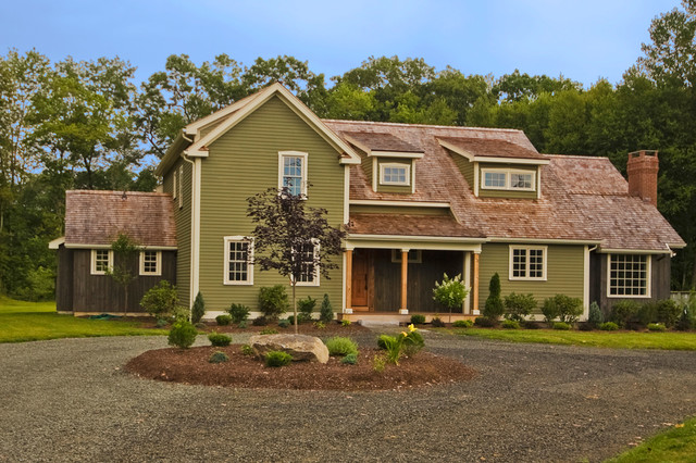 Front Elevation Farmhouse : Front elevation farmhouse exterior new york by