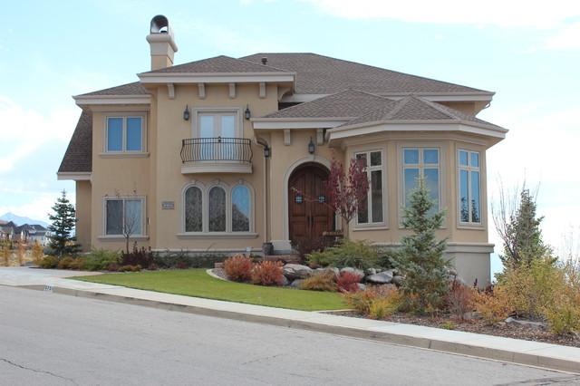 Custom Home Front Elevation : Front elevation