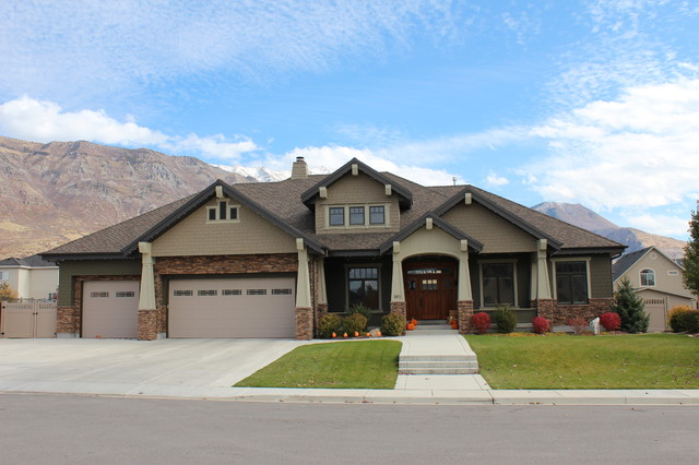 Front elevation craftsman exterior salt lake city for Ranch house elevations