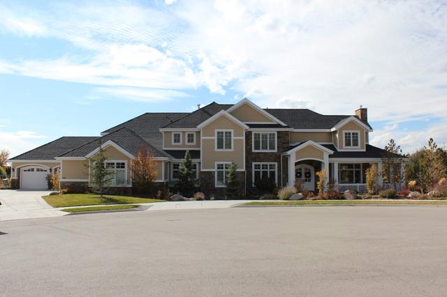 Front elevation traditional exterior salt lake city for Custom home exterior design