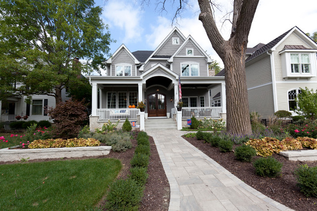 Front Elevation Farmhouse : Front elevation farmhouse exterior chicago by