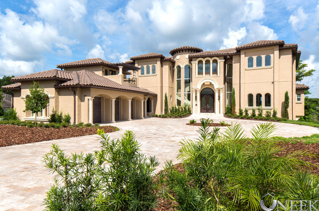 Front elevation mediterranean exterior orlando by for Mediterranean elevation