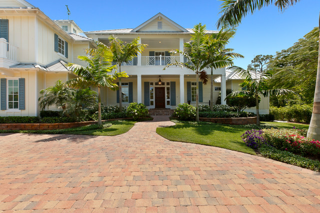 Front elevation tropical exterior miami by weber for Columbia flooring melbourne ar