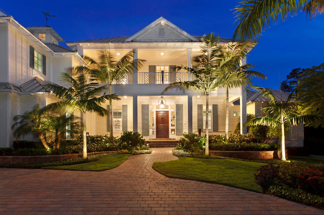 front elevation - tropical - exterior - miami -weber design