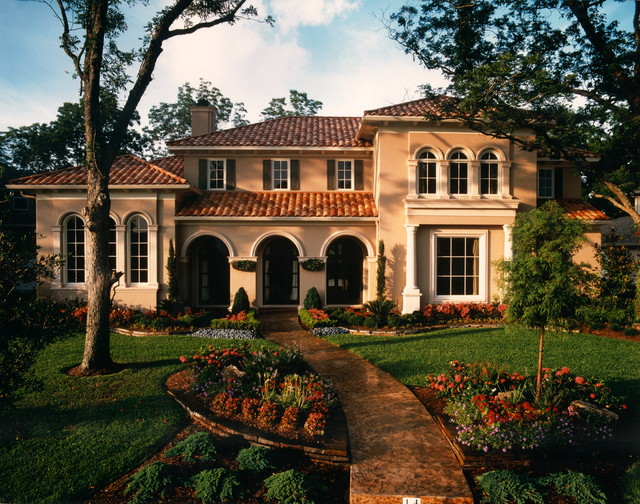 Front elevations Mediterranean style homes houston
