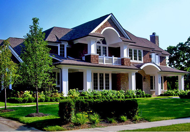 Front Elevation Traditional : Front elevations traditional exterior detroit by