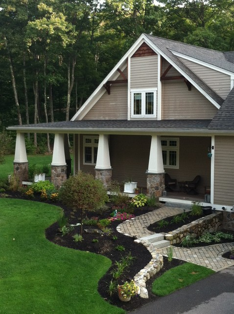 Garden Design With Front Entrance Craftsman Exterior Manchester NH By A Cut  With Hgtv Landscape From