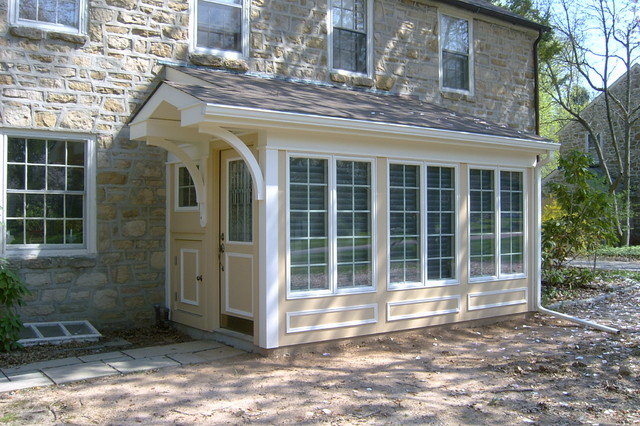 Front entry addition traditional exterior for Building an entryway addition