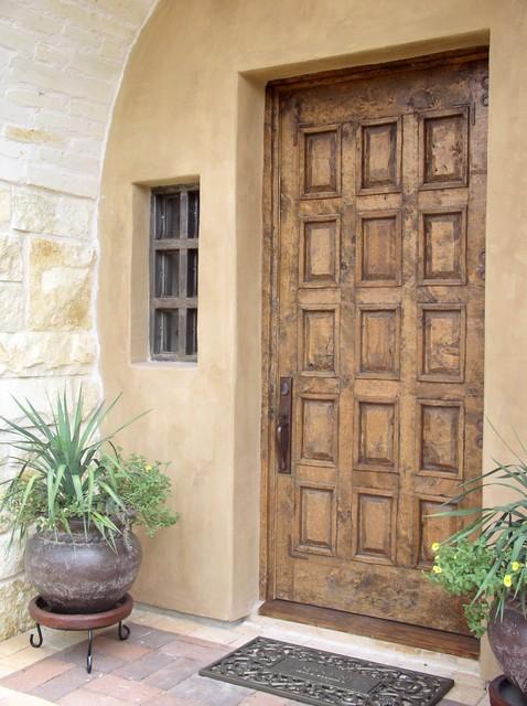 Front Entry Door And Steel Window Mediterranean