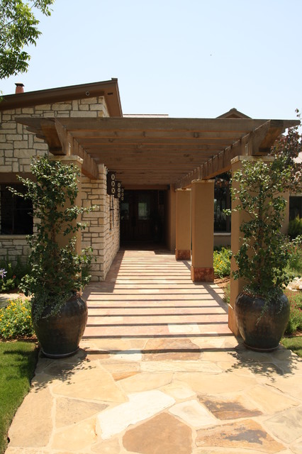 Front Entry Pergola Contemporary Exterior Austin