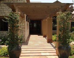 front entry pergola contemporary exterior
