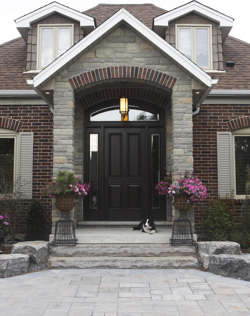 Front Entry Traditional Exterior Toronto By