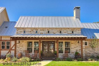 Front Exterior Elevation Farmhouse Exterior Austin