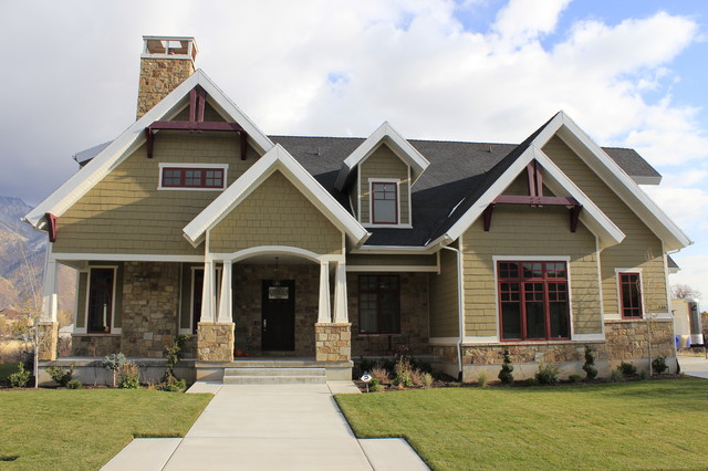 Custom Home Exteriors Model front exterior - craftsman - exterior - salt lake city -jcd