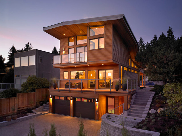 Inspiration For A Large Modern Three Story Wood Exterior Home Remodel In  Vancouver. Email Save. My House Design Build Team