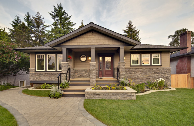 Burnaby bungalow renovation contemporary exterior vancouver by my house design build team Build my home