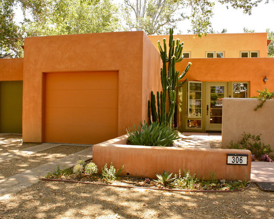 Adobe wall home design ideas pictures remodel and decor Adobe house designs