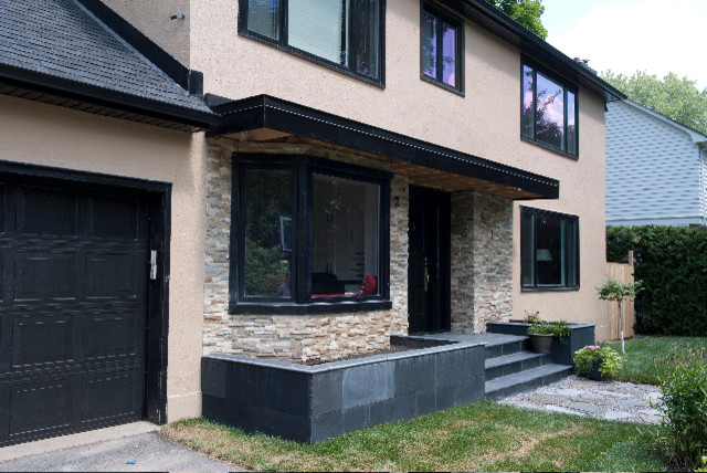 Front exterior contemporary exterior ottawa by for Exterior by design ottawa