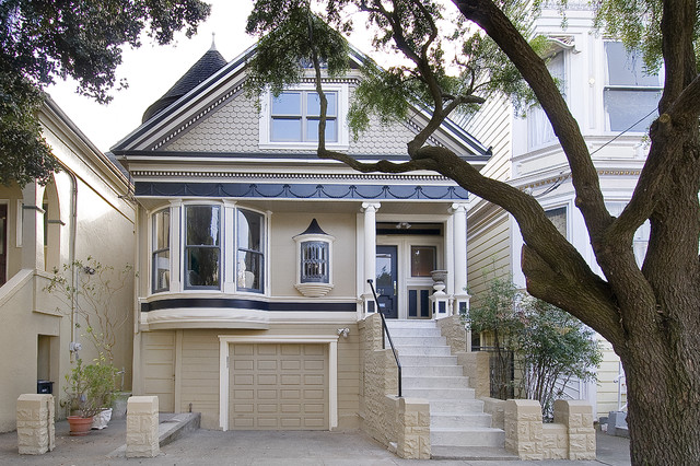 Front fa ade victorian exterior san francisco by for Building a victorian house
