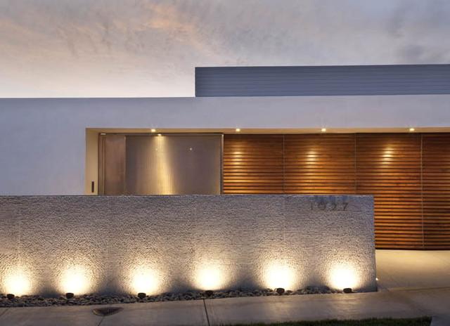 Front Facade Modern Exterior Orange County By