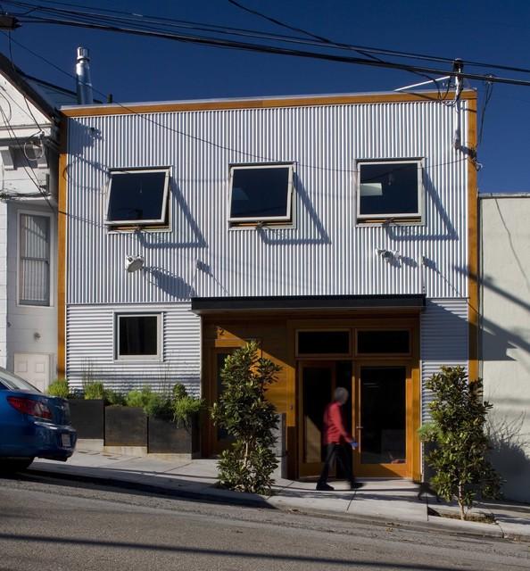 front facade contemporary-exterior