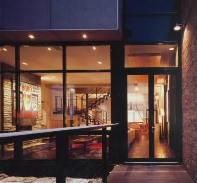 Inspiration for a modern exterior home remodel in Chicago