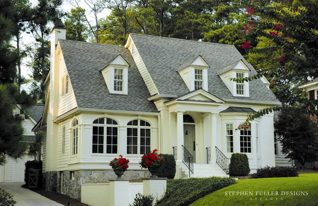 Front facade traditional exterior atlanta by Home designers atlanta