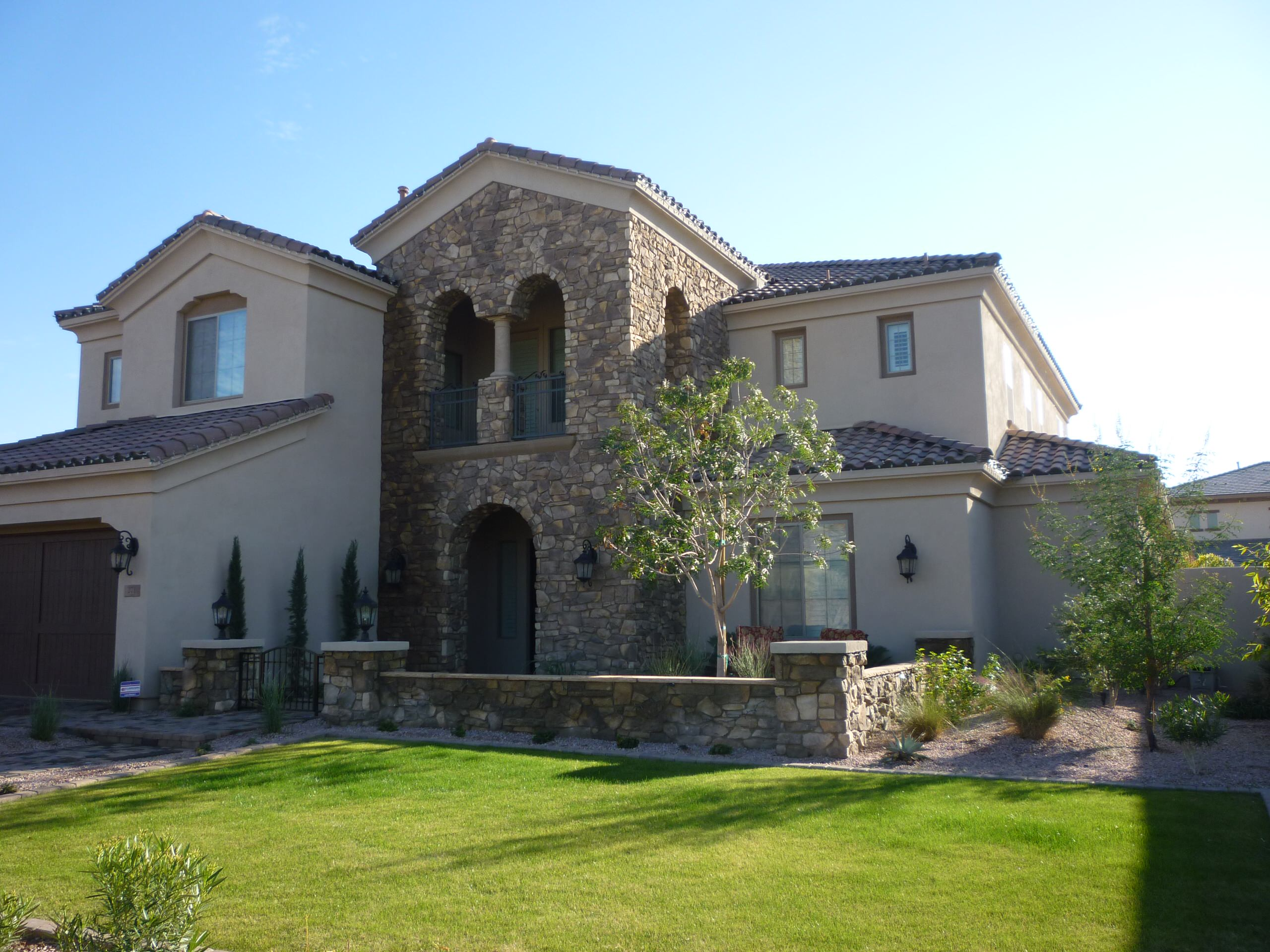 Front Landscape, Wall, & Stone Work