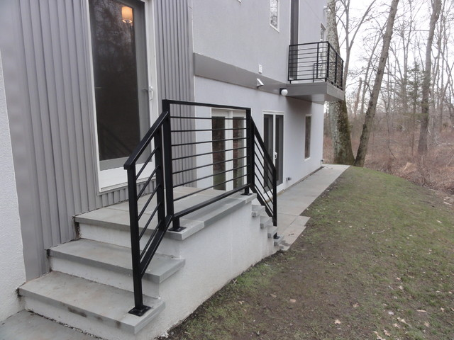 Front Porch Railings Contemporary Exterior