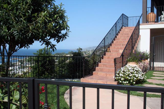 Front steps mediterranean-landscape