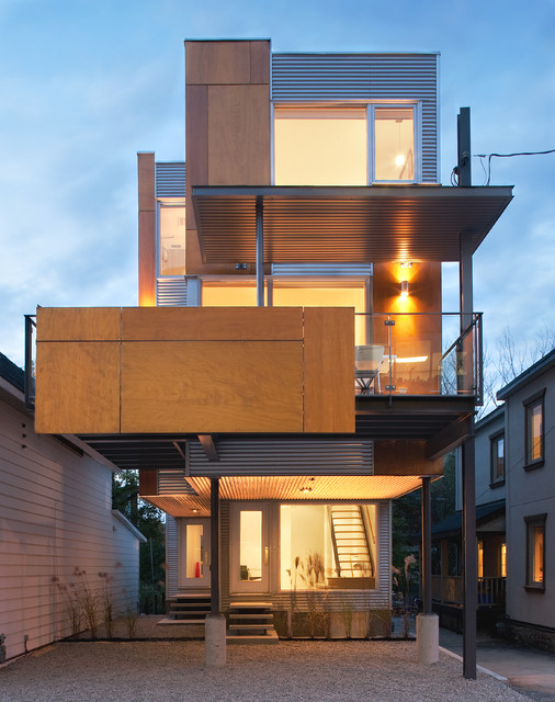 Front to back infill contemporary exterior ottawa for Exterior by design ottawa