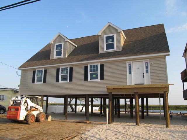 Jersey Shore House On Pylons Custom Modular Home Build