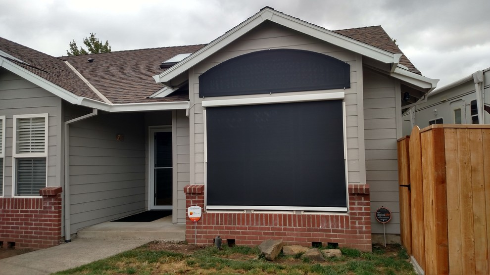 Front window exterior screens - Traditional - Exterior ...