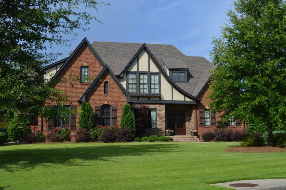Inspiration for a timeless mixed siding exterior home remodel in Birmingham